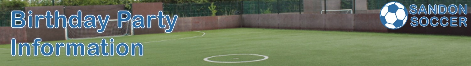 Sandon Soccer 5-a-side Birthday Parties