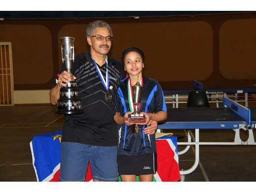 Saunderson (Snr) & Saunderson (Jnr) Dominates Namibian National Closed Table Tennis Championship