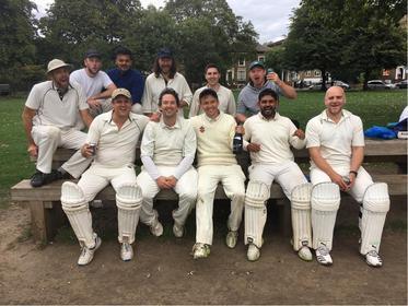 New champions London Fields celebrate winning league