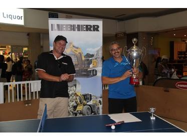 Fanie Bosman (Liebherr Namibia) with Champion Rudi Saunderson