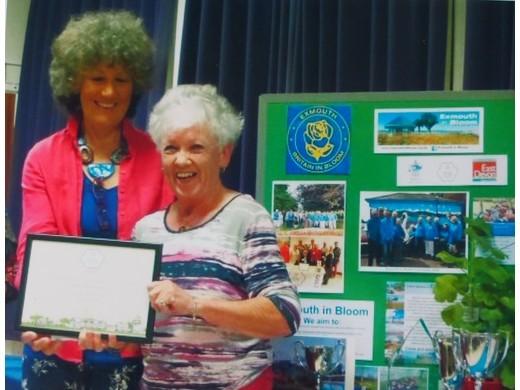 Joy Penberthy receives the awards