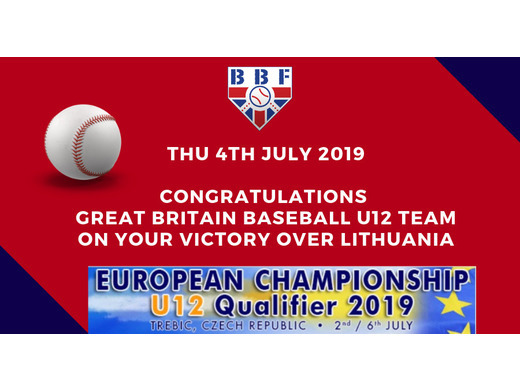 National Team Programme - GB Baseball U12 Wins