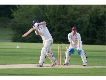 Rob Channon Bowled by Ram