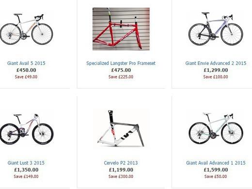 Climb on Bikes - Clearance Bikes
