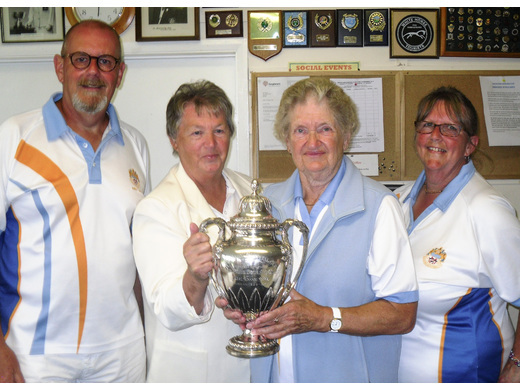 Andy Lock, Shirley Brown and Mary Solway - Axon Cup winners at Phear Park