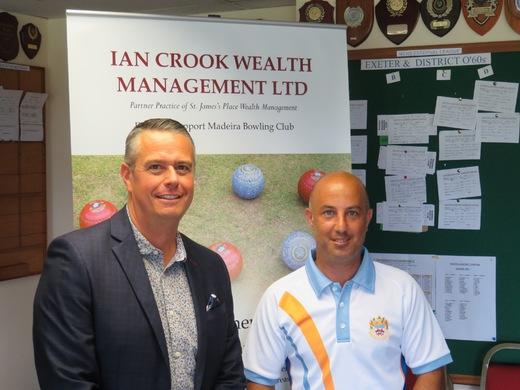 Club sponsor Ian Crook with Mark Perrott