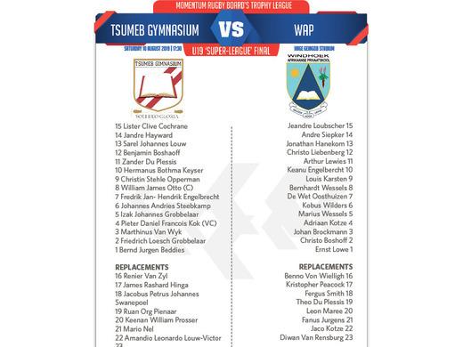 U19S Final - Tsumeb Gym vs. WAP