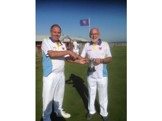 Mixed doubles winners Ray Pull and Howard Freeman