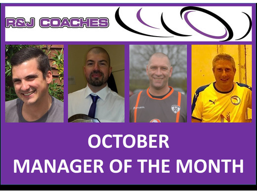 R&J Coaches Manager of the Month- October 2018