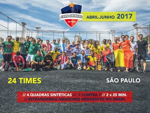 Inscrições abertas para a Copa Gringos 2017