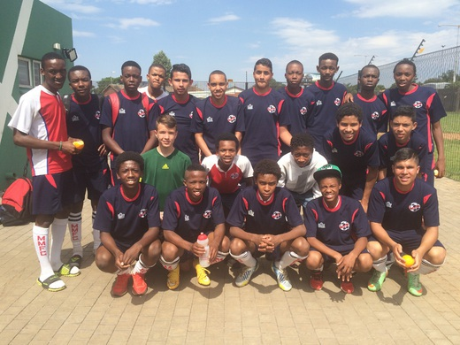 The Whole Team at Nike Centre
