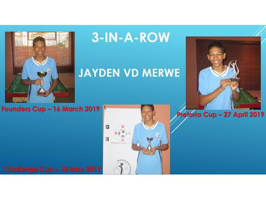 FOUNDERS CUP + PTA CUP + CHALLENGE CUP - Jayden vd Merwe