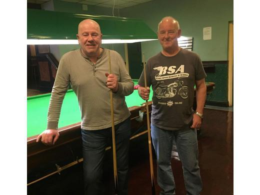 Steve Chandler (Right) - Over 55's Winner 2018-2019