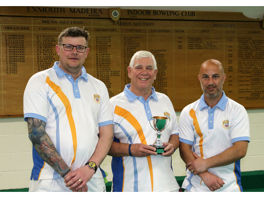 Noel Pond, Graham Clarkson & Mark Perrott - Mens self select triples winners