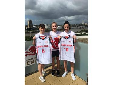 Stef, Sarah and Eilidh at the Commonwealth Games