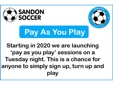 Sandon Soccer - Pay As You Play