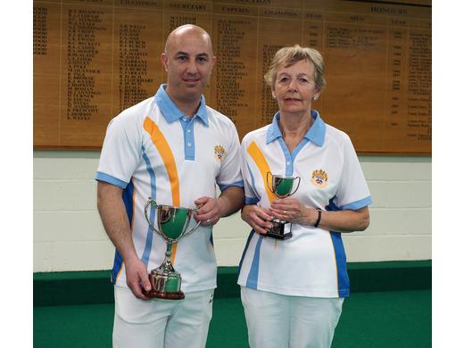 Mark Perrott & Jan Roberts - Bob Burch Open Singles finalists