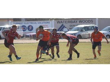Tough game between Walvis Bay Private High School and Windhoek Gymnasium