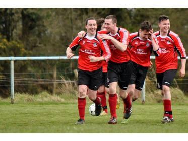 Aiden McTigue celebrates his goal - - Photo Ciara Buckley