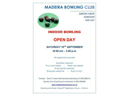 Indoor Bowling Open Day