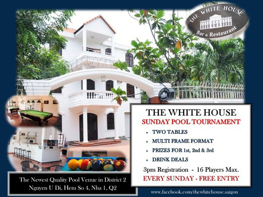 Sunday Pool Tournament @ The White House, District 2