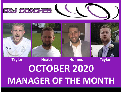R&J Coaches Manager of the Month- October 2020