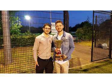 Ben Blackston presents to Ben Gould - MJSL Top Scorer