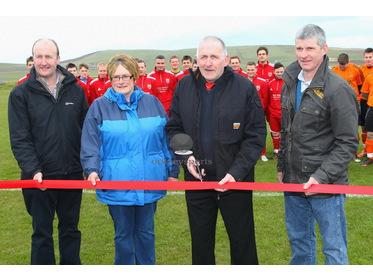Morgan Harcus cuts ribbon at new Rendall pitch opening
