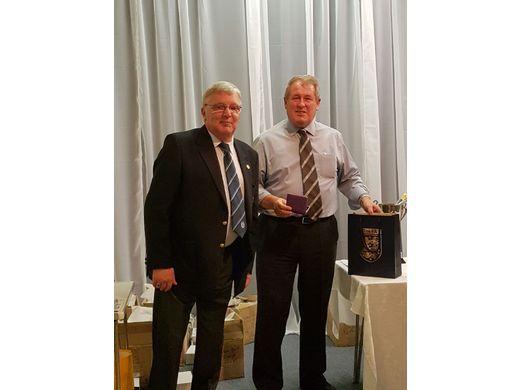 Alan Speakman receives 50 Year Kent FA Award