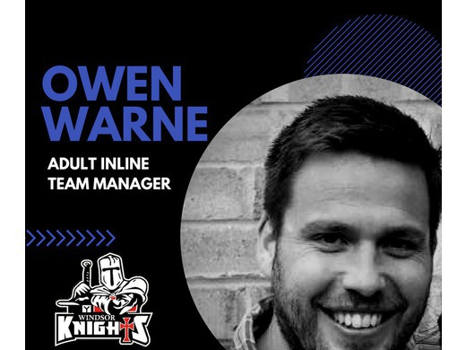 Welcome - Owen Warne - Adult Inline Team Manager