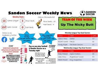 Sandon Soccer - Weekly News 31-01-20