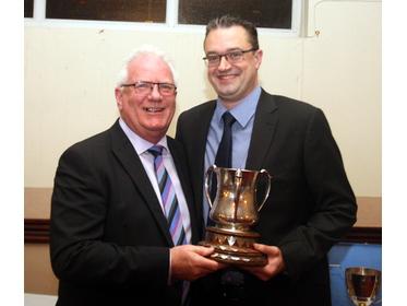 2015 - Prestwich 1st XI Walkden Cup Winners - Glenn Bullock & Andy Bradley