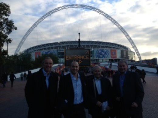 15-10-13 MJSL Exec attend England v Poland match for FA Respect prize