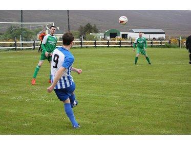 Benny Lavelle in action v Bangor Hibs