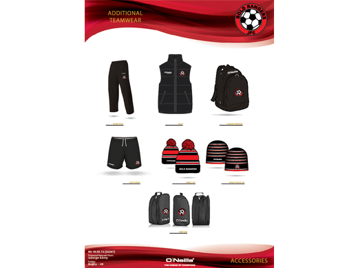 Bold Rangers JFC Additional Items for all