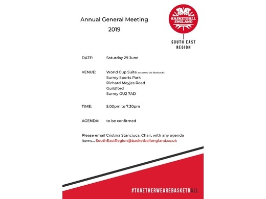 South East Basketball AGM