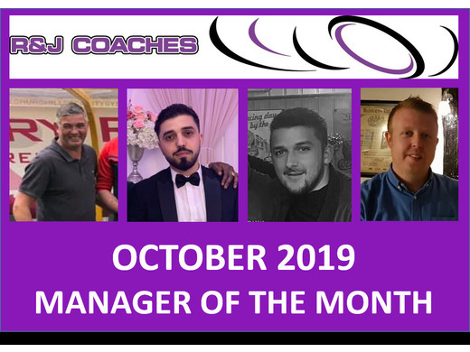 R&J Coaches Manager of the Month- October 2019