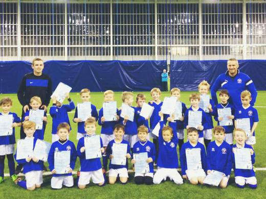 Our current Under 10s training at Manchester City Academy in 2015