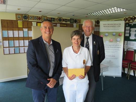 Ian Crook, Lynne Sandoz and Club President, John Bellamy