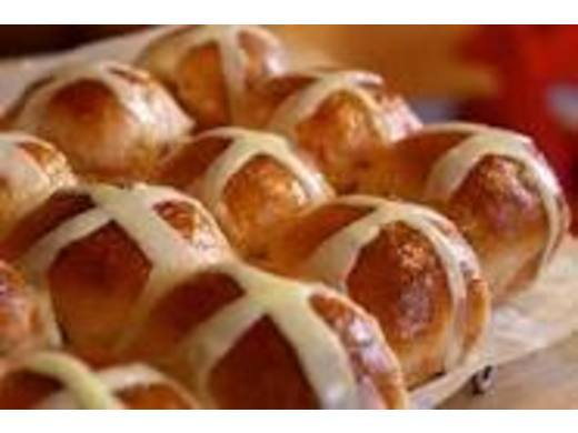 Hot cross buns and Easter eggs for tea