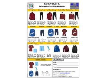 Parkvilla Orders