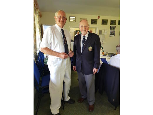 Richard Prince receiving his County badge