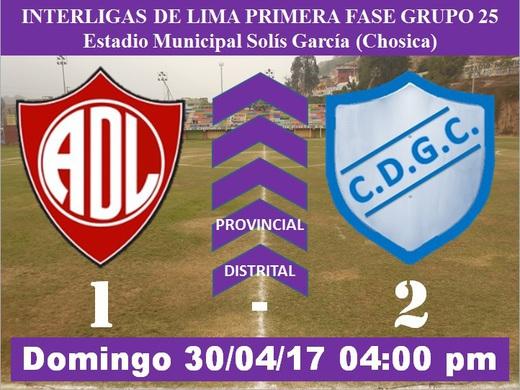 Defensor Lima FC 1 Garra Comeña 2