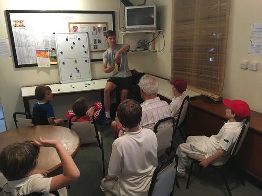 Teaching fielding positions