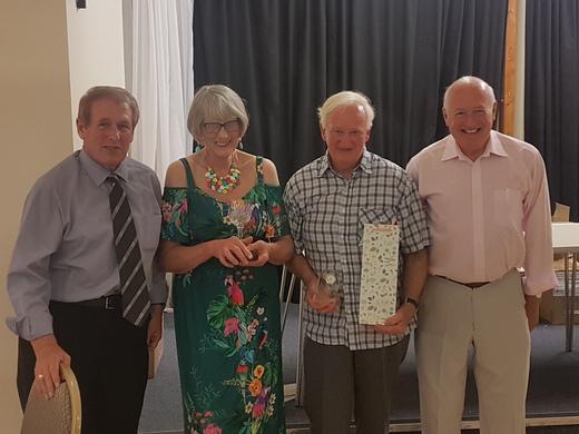 Ian Sands awarded Long Service Prize as Fixtures Secretary announces his Retirement