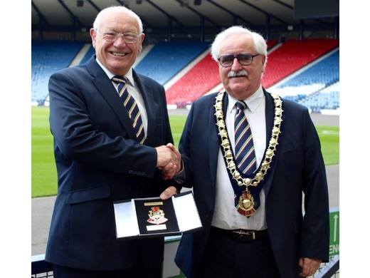 Iain Cowden awarded Life Membership of the Scottish Amateur Football Association