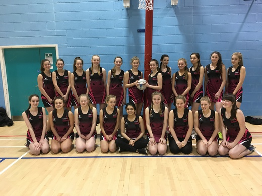 The Leeds City U14, U15 teams for the District Play day 27 January 2018