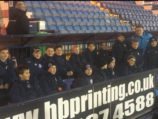 U11's at Stockport County tonight