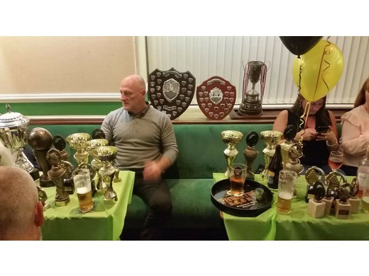 Ste sumner with his trophies
