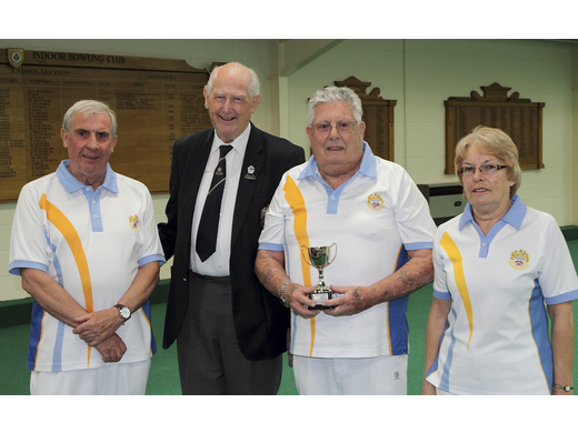 Dave Mansell; Keith Prew and Joan Mansell - Keith Ewins Open Triples Runners-up